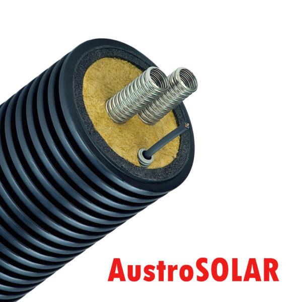 труба для солнечного коллектора двойная для подземной прокладки с кабелем Austrosolar MCD