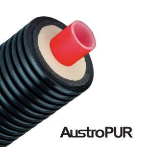 Труба для теплотрассы ППУ AUSTROISOL PUR одинарная